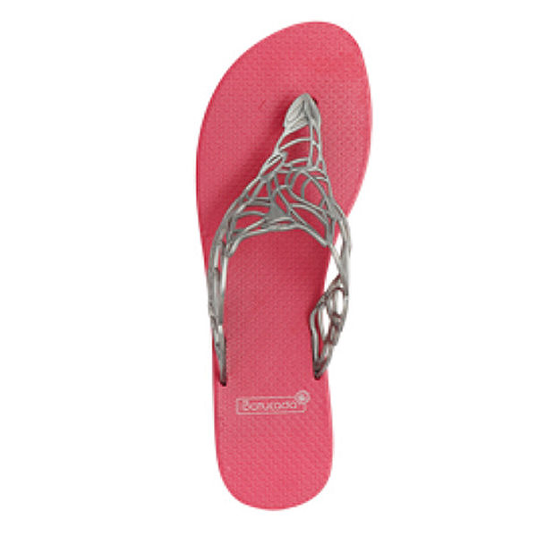 6-500313 Flipflops Acacia Chrome & Pink