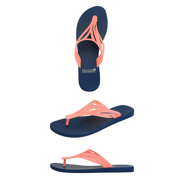 6-500422 Flipflops Swell Blue & Salmon