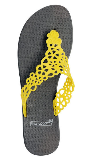 6-500204 Flipflops Sweet Flower Yellow & Grey