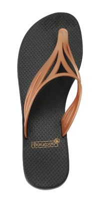 6-500420 Flipflops Swell Black & Gold