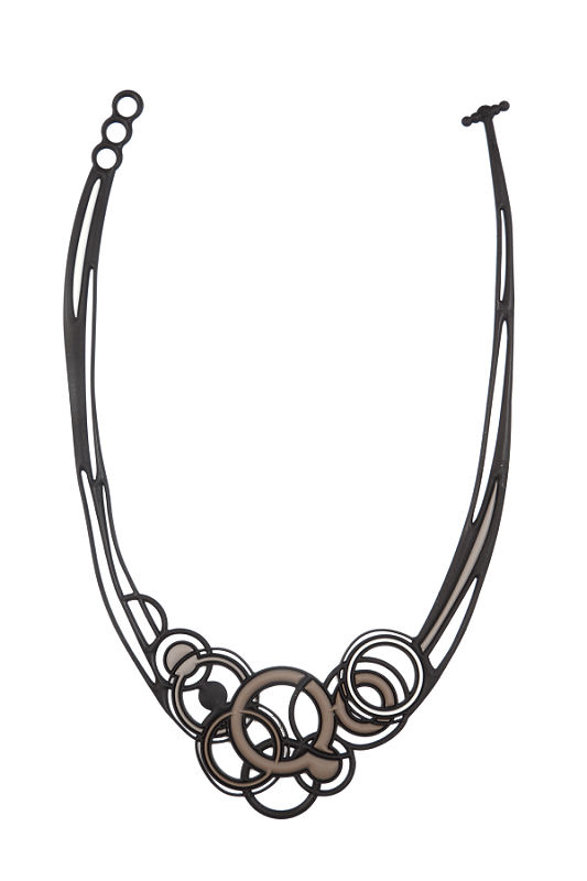 Saturn - Collier (brown/grey)