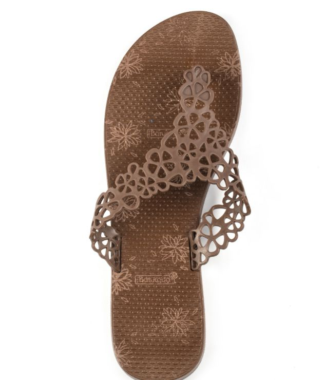 6-500203 Flipflops Sweet Flower Brown & Brown
